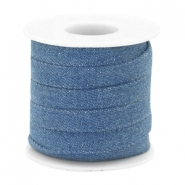 Cordon en denim plat 10m bleu regular