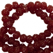 Perles scintillantes 8mm rouge tawny port
