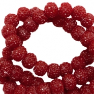 Perles scintillantes 6mm rouge port