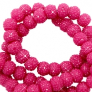 Perles scintillantes 8mm rose yarrow