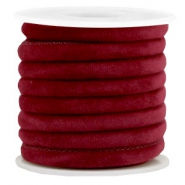 Cordon cousu velvet 6x4mm rouge port