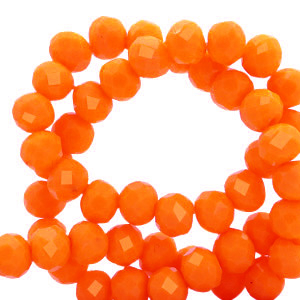 Perles à facettes 6x4mm disque Orange emberglow-pearl shine coating
