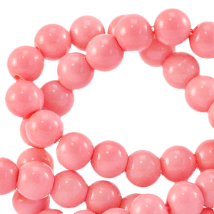 Perles en verre 4 mm Rose pigeon fruit