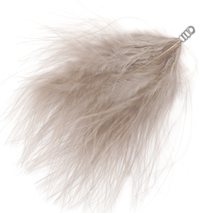 Plumes peluche taupe gris